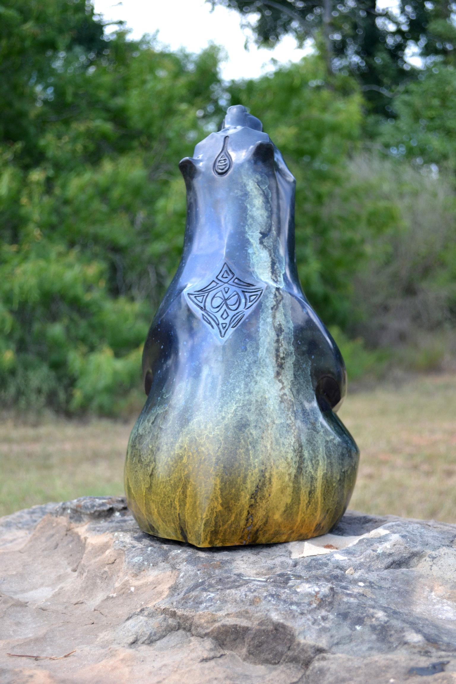 Bronze Bear Sculpture Orion John Maisano
