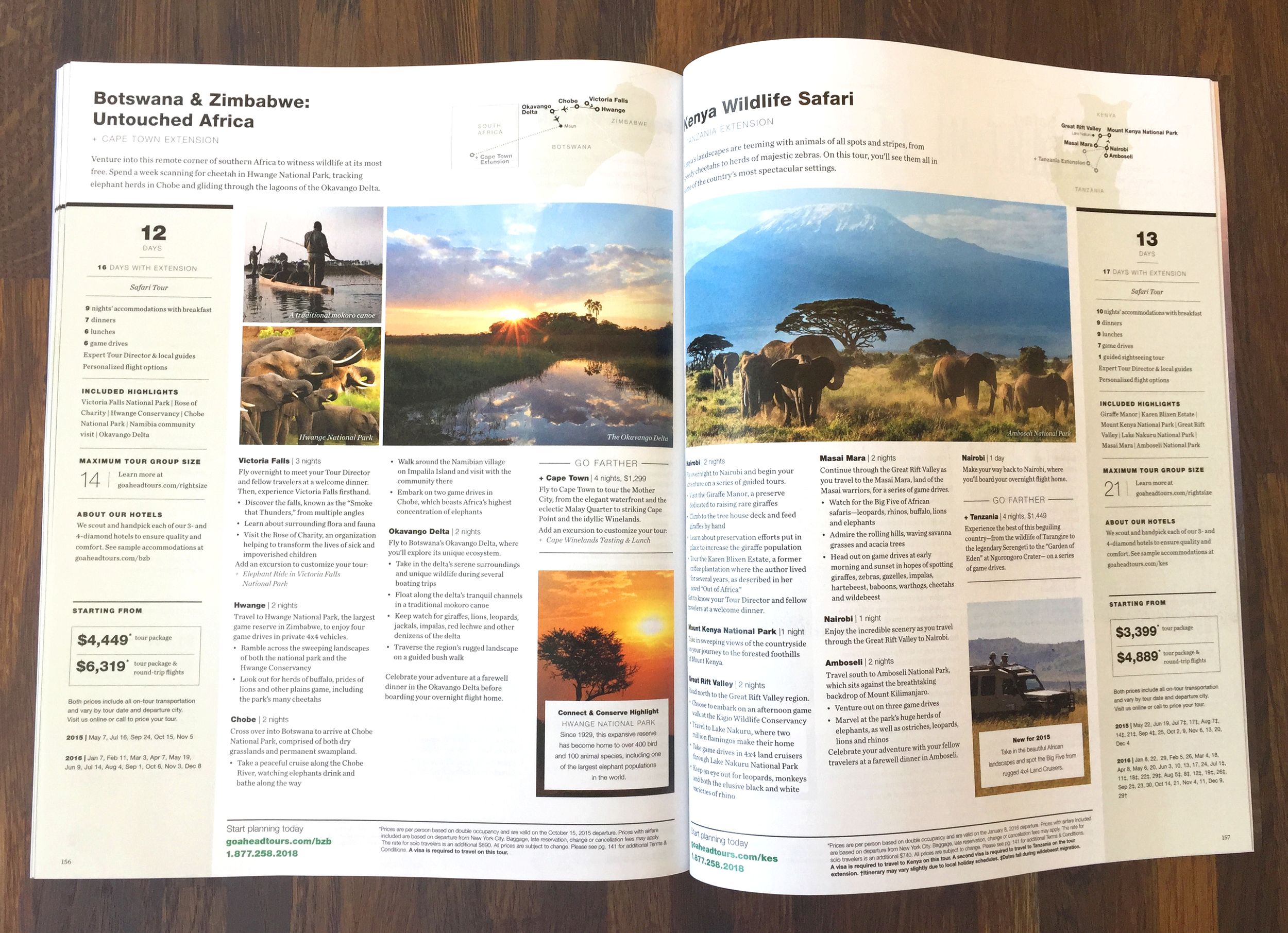 Full tour page spread (click to enlarge)