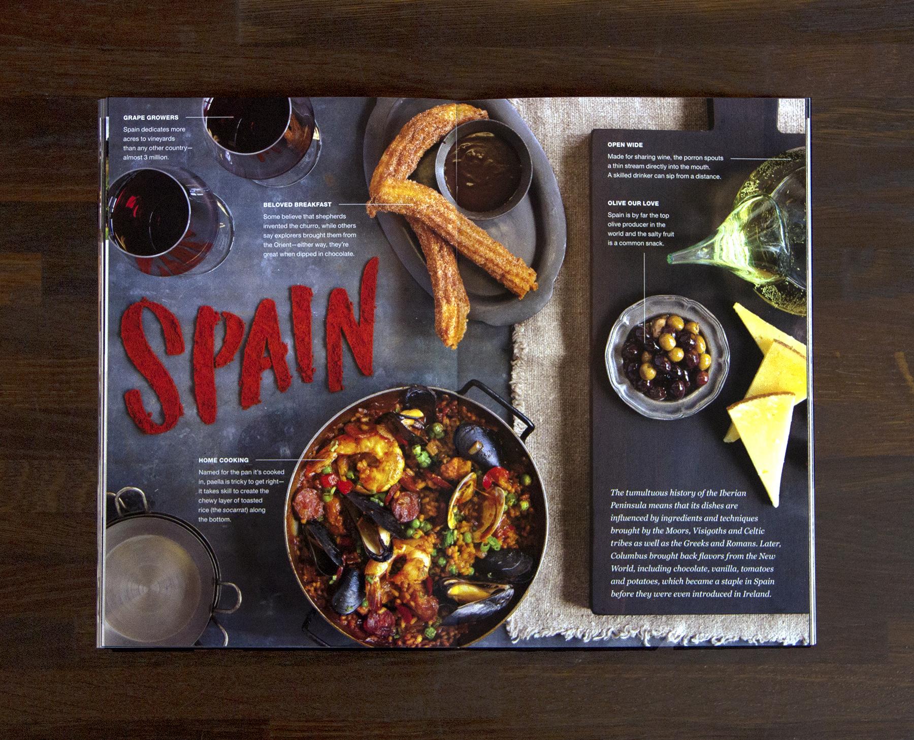 Spain tabletop spread (click to enlarge)