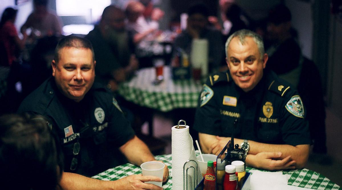 CSI cops getting lunch