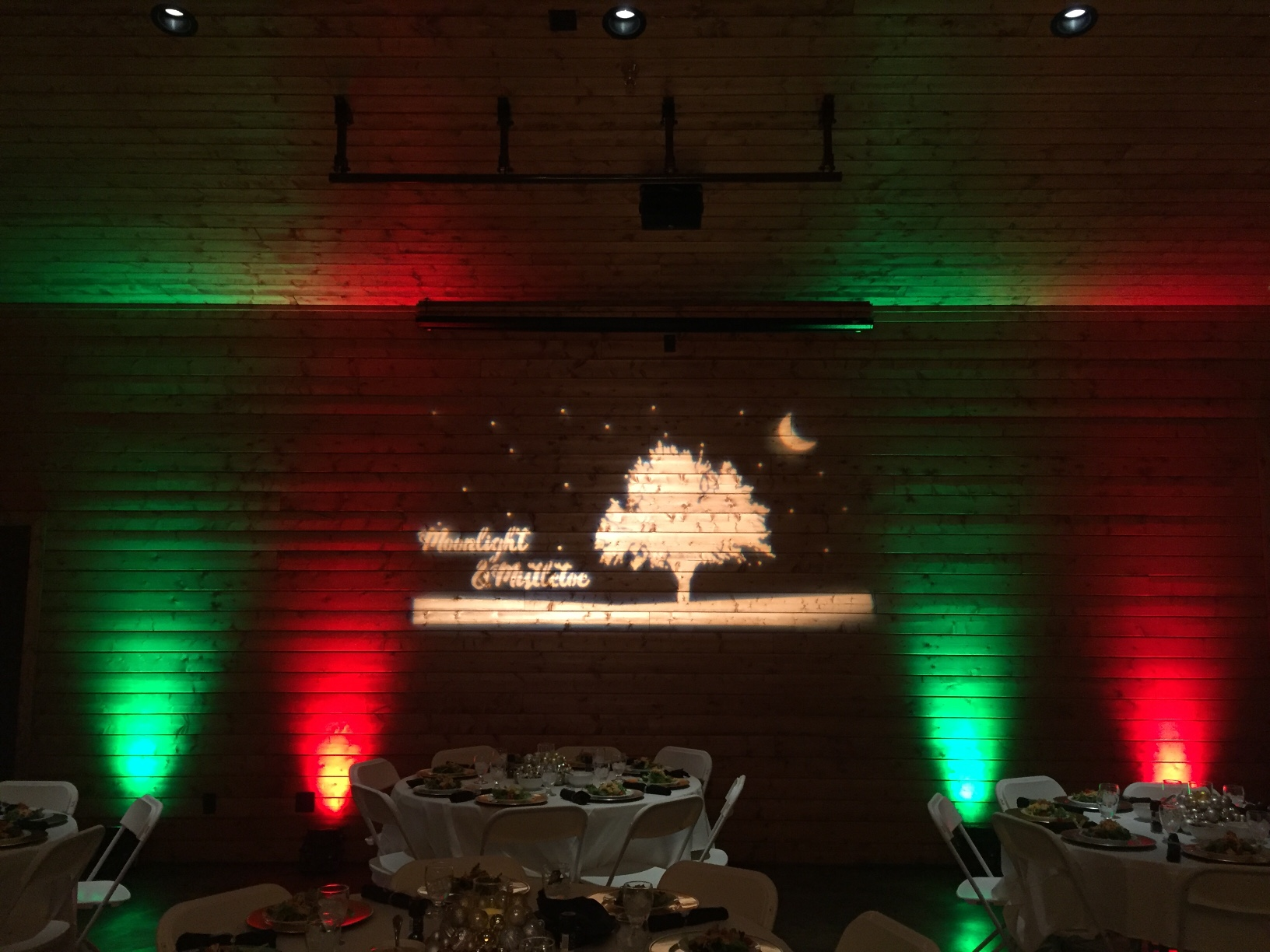 Up-Lights and Custom Gobo