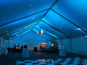 39'' Mirror Ball with Tent Up-Lighting
