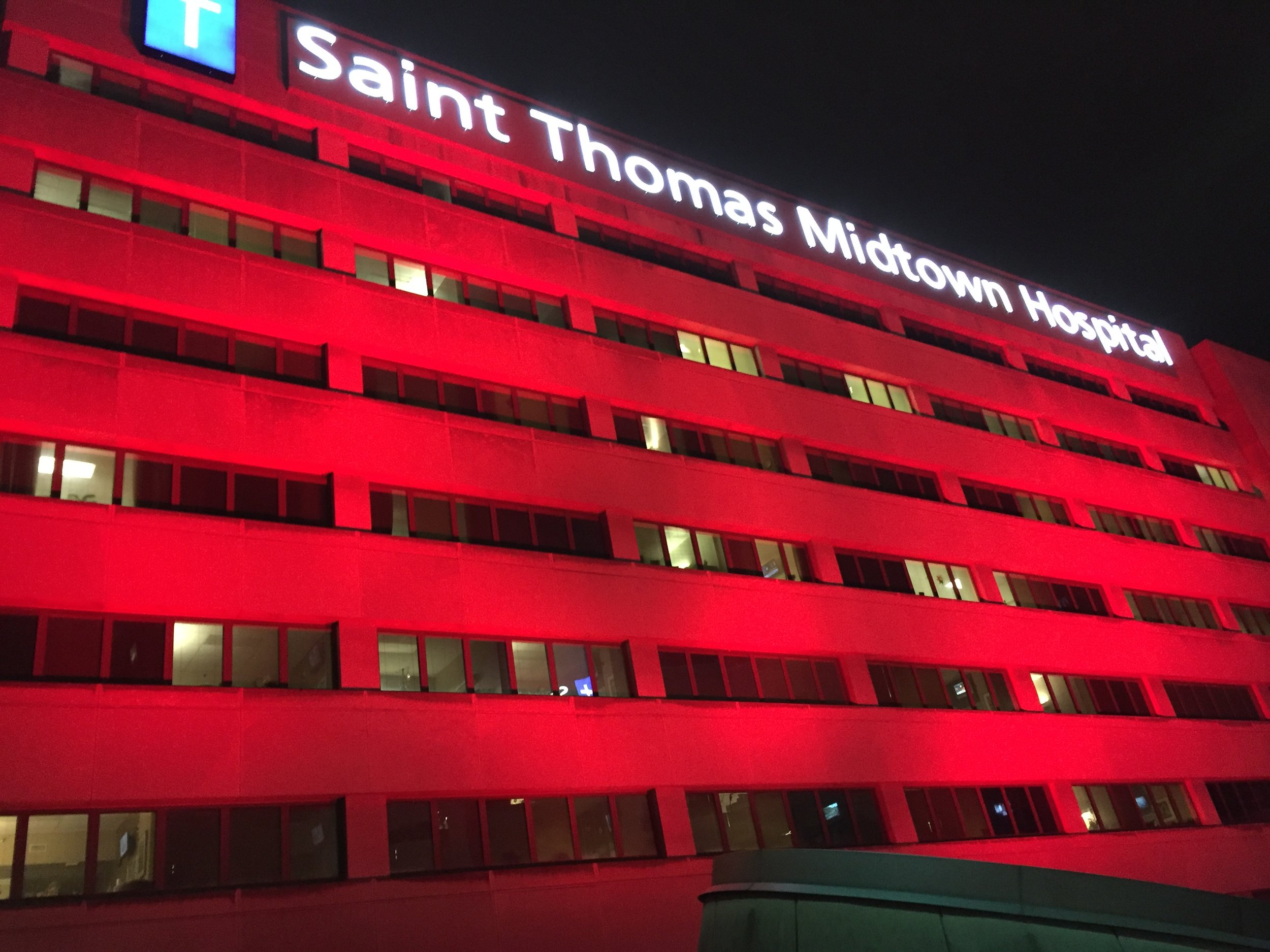 St. Thomas Midtown has transformed their building for several years and we get lots of compliments on this one.