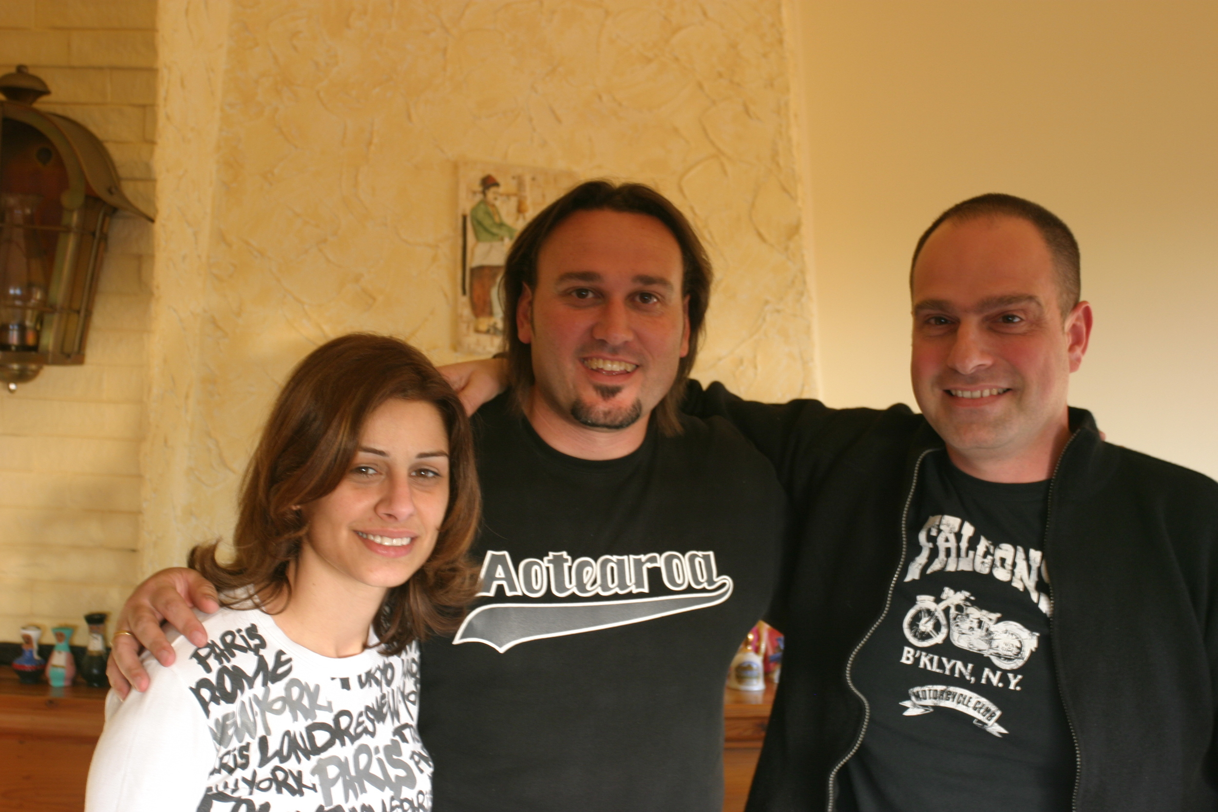 Andrew with Lebanese TV director Patrick Tayeh and his wife.