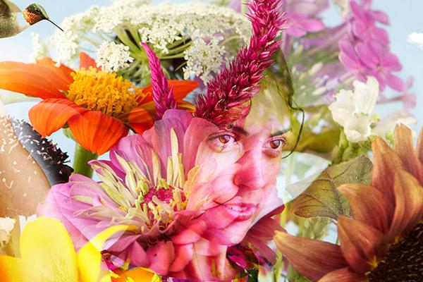 "DETAIL ""Miranda In Bloom"" - Photographic Digital Collage"