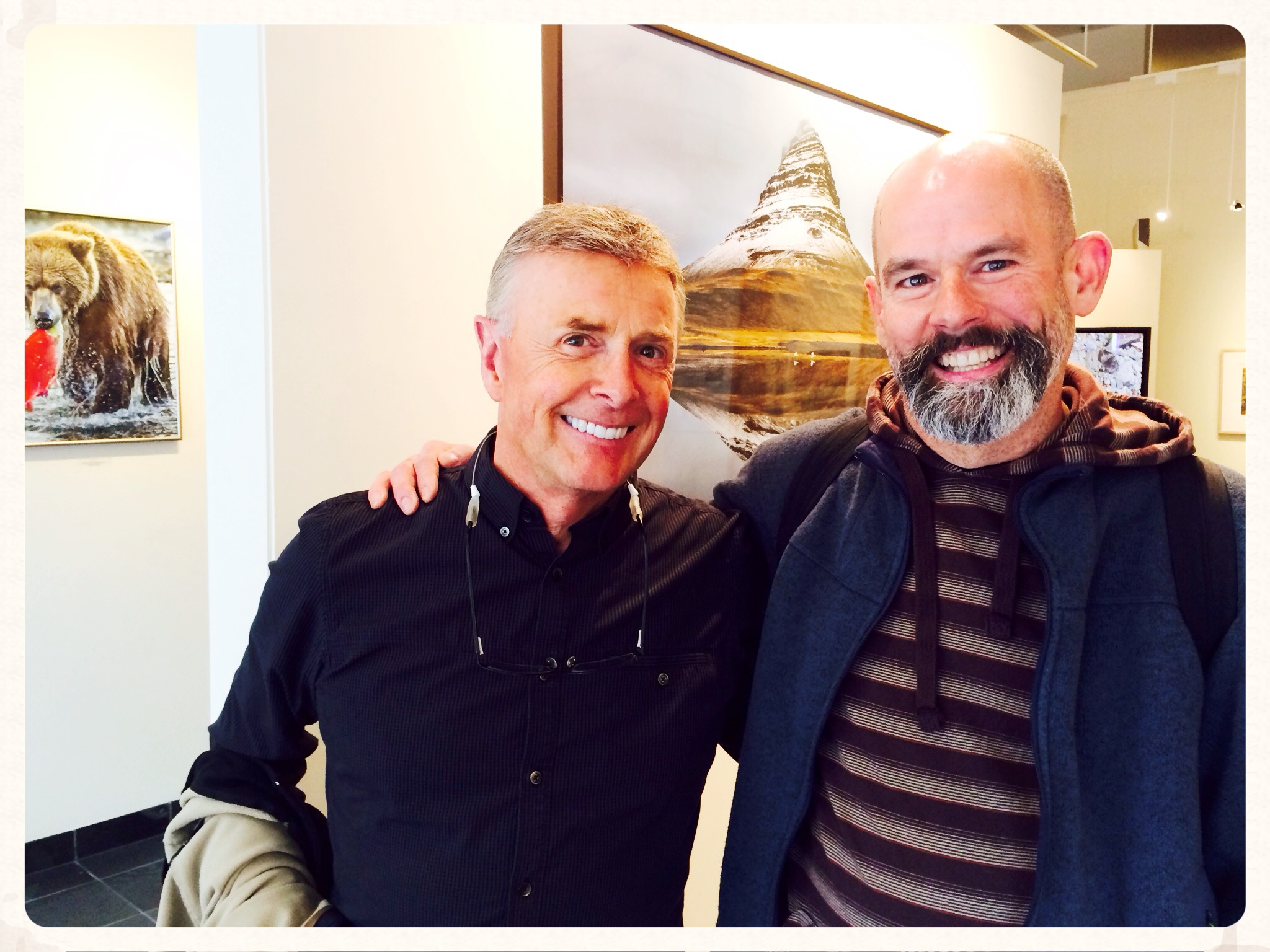 Me and Art Wolfe at his Gallery in Seattle (photo by Karen Lanzendorfer)