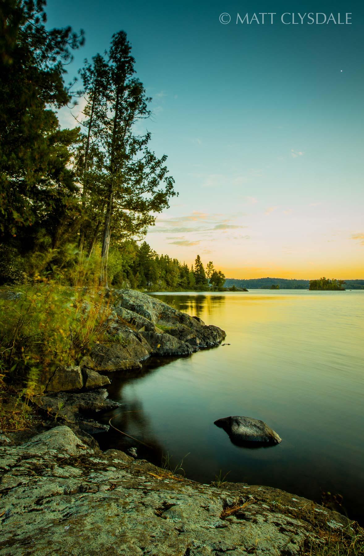 Shagawa Lake Sunrise - Ely, Minnesota