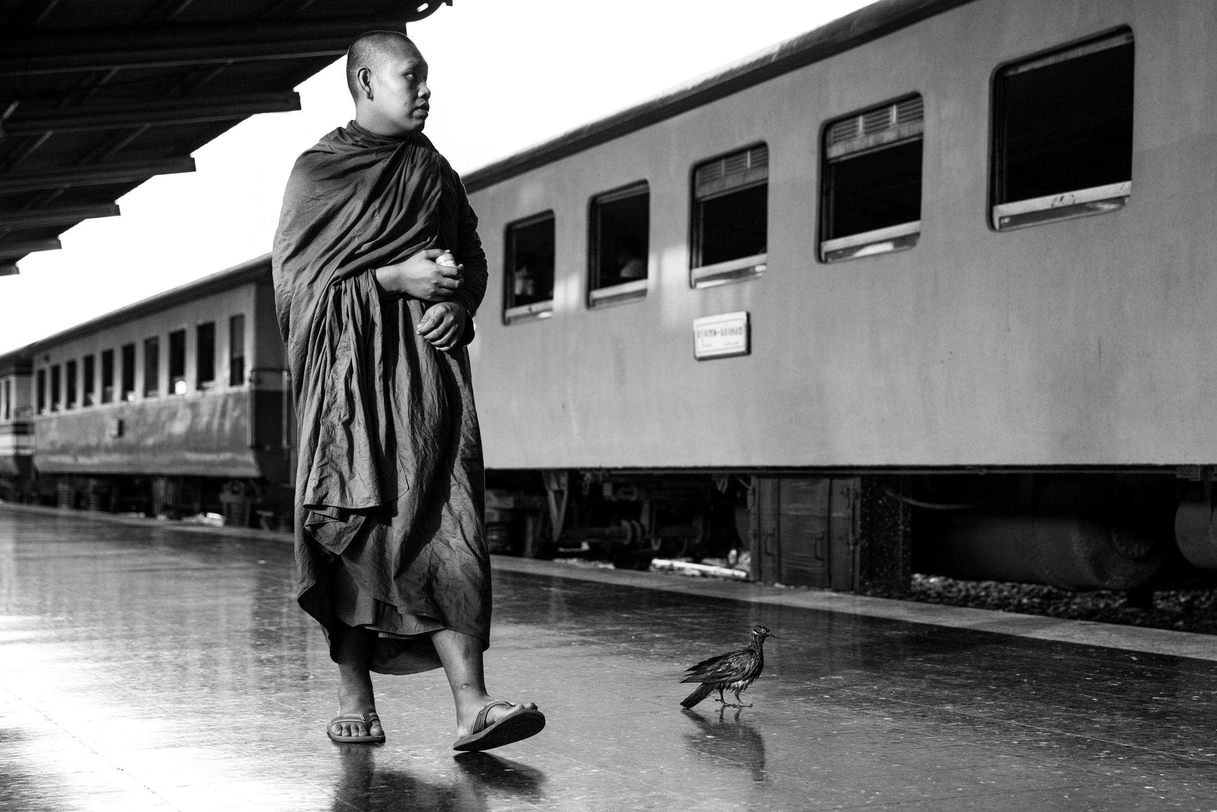 Rammy Narula Train Station Bangkok Black And White-2.jpg
