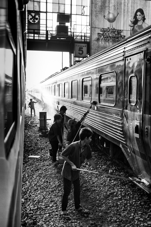 Rammy Narula Train Station Bangkok Black And White-12.jpg