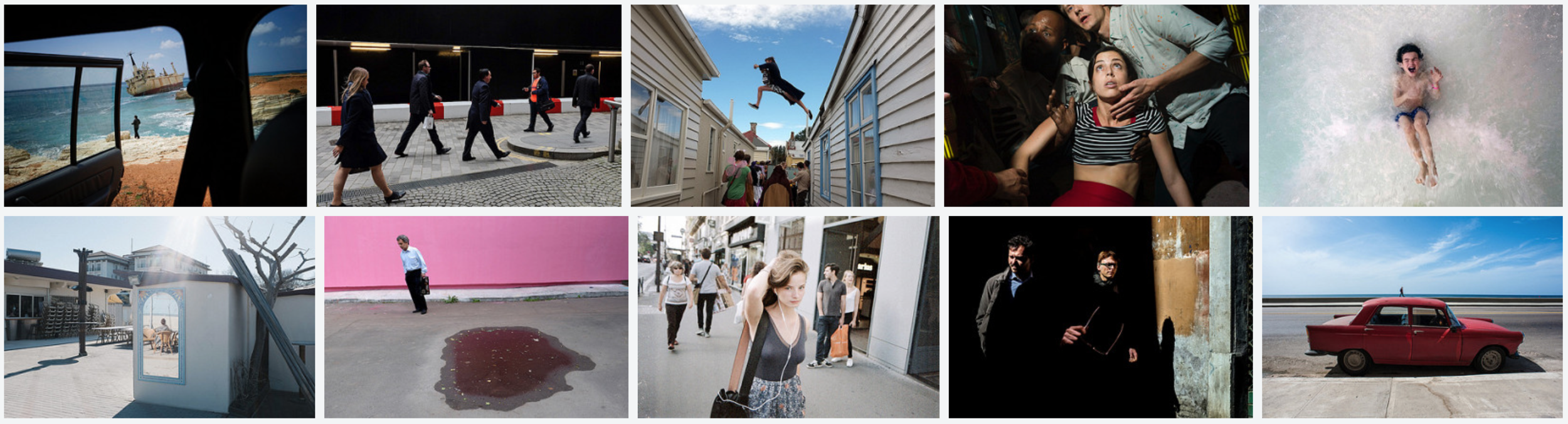 A screenshot from the front page of the group currently. Photographers' credits and from left to right, first to second row,   Eleni Rimantonaki , streetmax , pinel777 , Chris Suspect , Jeff Larson (Raw Power) , Matteo Sigolo , Alexei Yurie , Marco Giusfredi , Stefano Lista , Alison McCauley