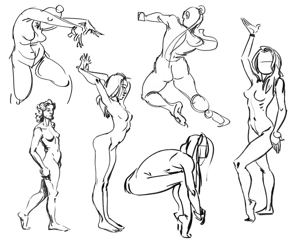 Nude Gestures - Pen