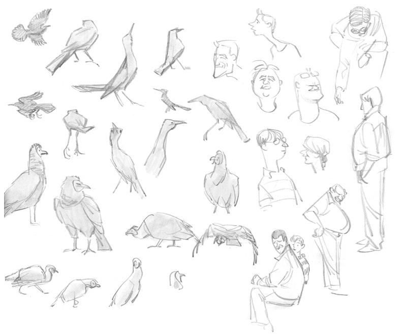 Grackles, Vultures, & People