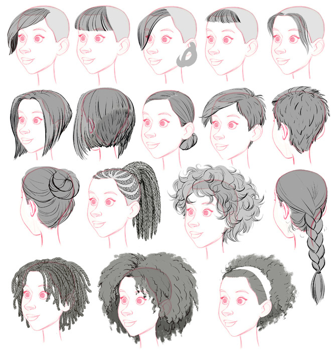 Big Hero 6: Female Hairstyle Library