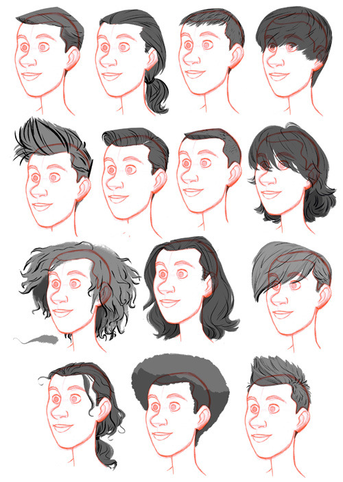 Big Hero 6: Male Hairstyle Library