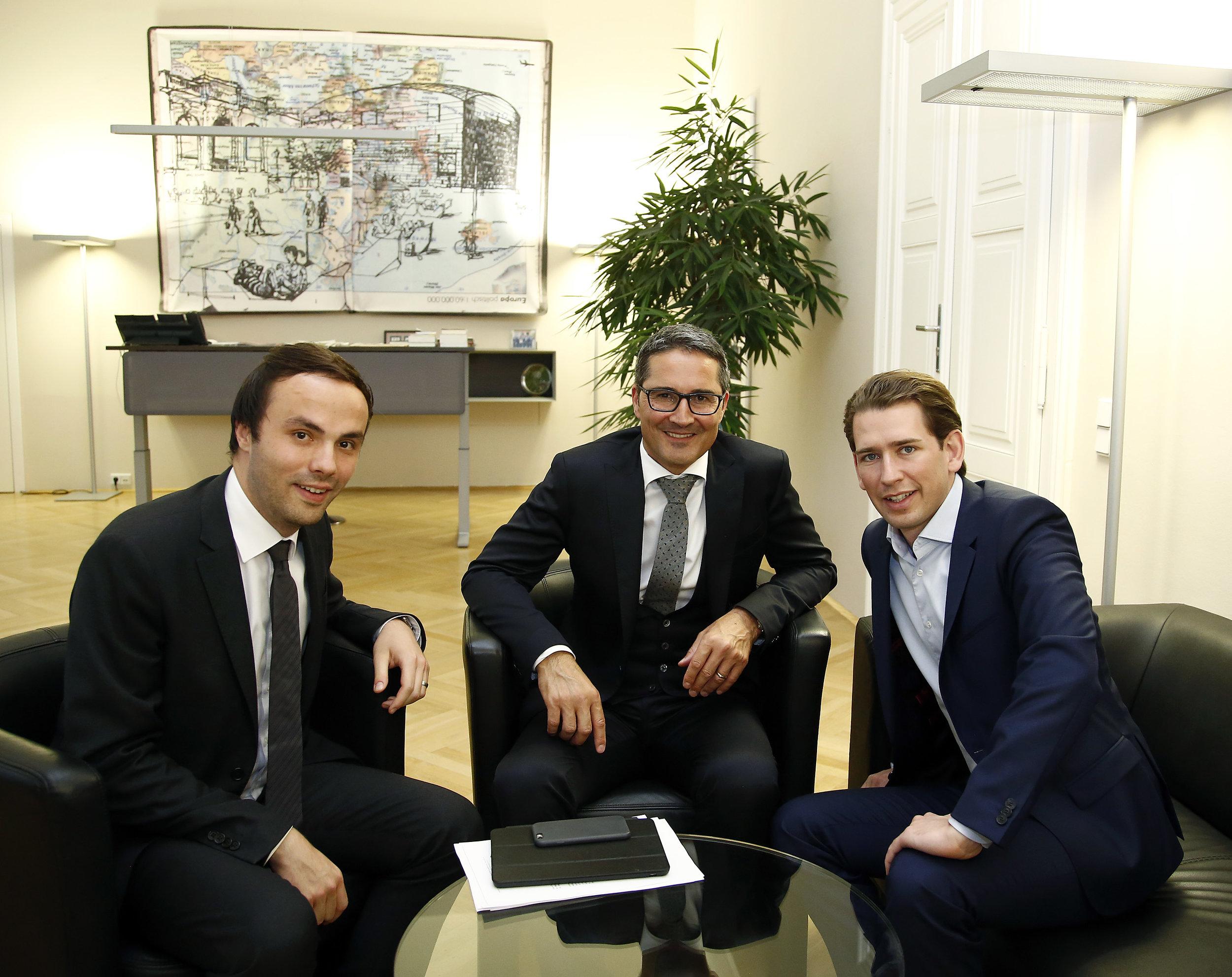 Außenminister und Bundesparteiobmann Sebastian Kurz empfing uns in seinem Büro.