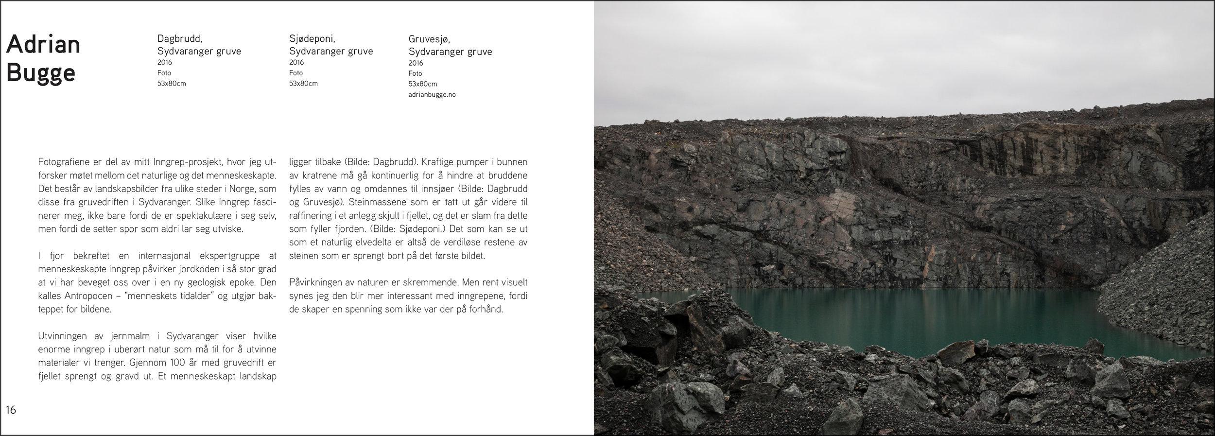 Katalogoppslag Østlandsutstillingen 2017 med info om bildene. Klikk på bildet for større PDF-versjon