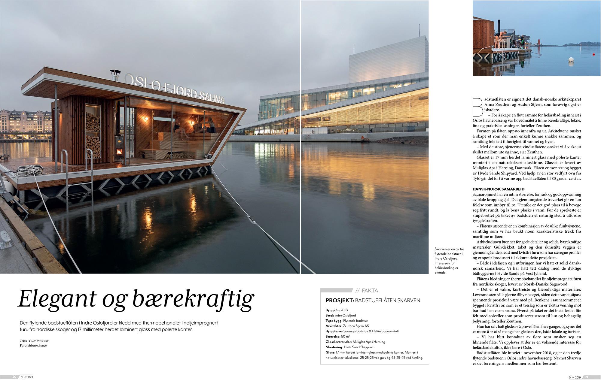 PROSJEKT: BADSTUEFLÅTEN SKARVEN 2018 Foto for: Zeuthen Stjern AS Arkitekter