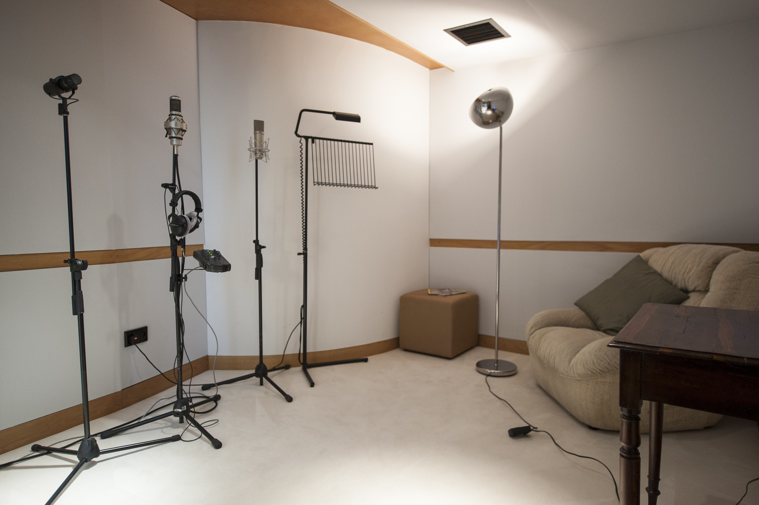Vocal Booth at Westpoint Studios set up with our Brauner VMA, Neumann u87 and Shure SM7