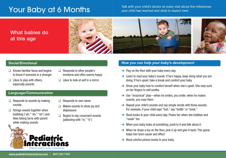 Download your copy of 6 Month Milestones
