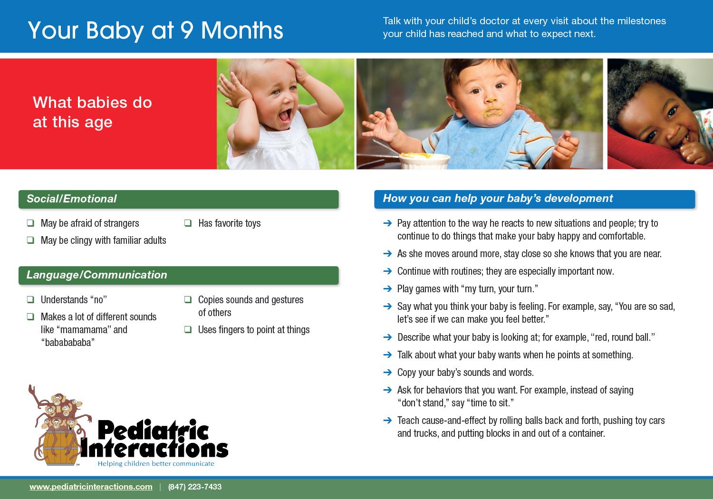 Download your copy of 9 Month Milestones