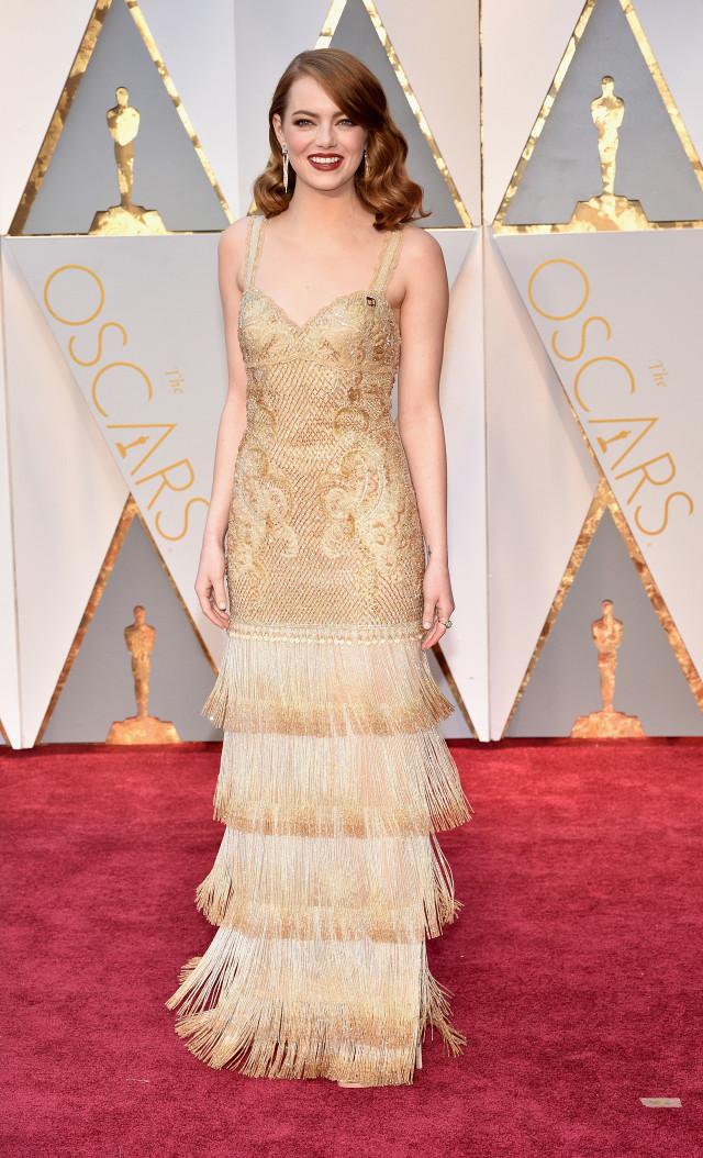 Emma Stone Oscars 2017 Red Carpet Jewellery