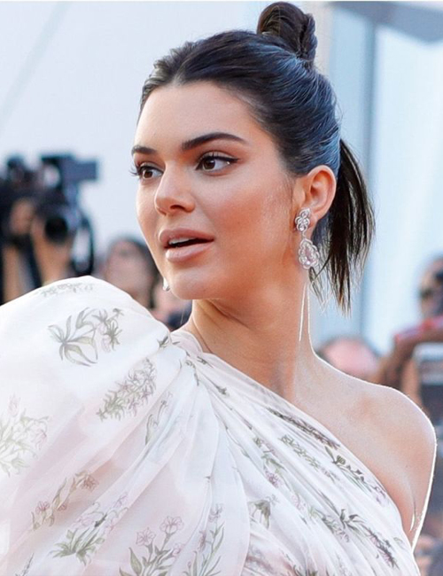 KENDALL JENNER  wearing Chopard Diamond Earrings.