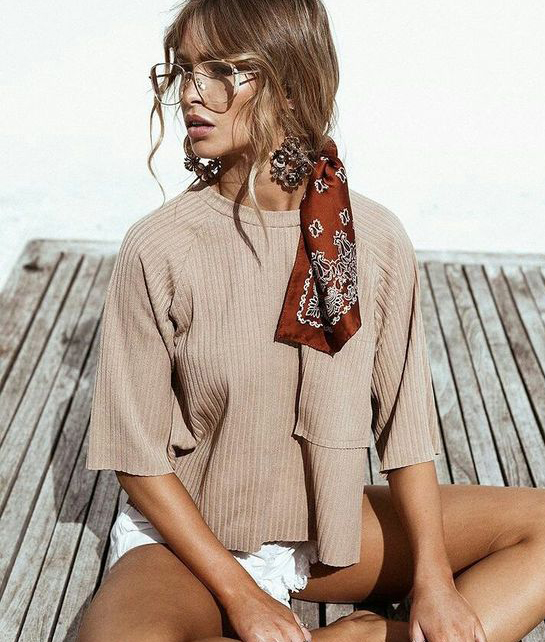 Silk Scarf tied in the hair