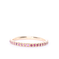 Pink Sapphire & Ruby Gold Eternity Ring