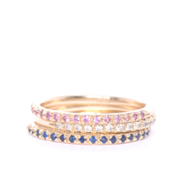 Sapphire & Gold Half Eternity Rings