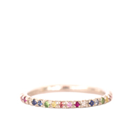 Silver & Rainbow Eternity Ring