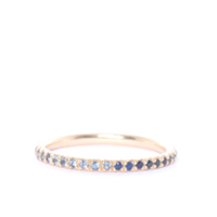 Blue Sapphire and Gold Eternity Ring