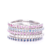 Sapphire Eternity Ring Stack