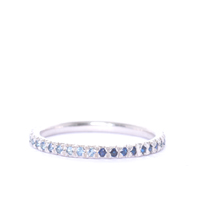 Sapphire and Silver Eternity Ring