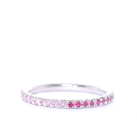 Pink Sapphire and Ruby Silver Eternity Ring