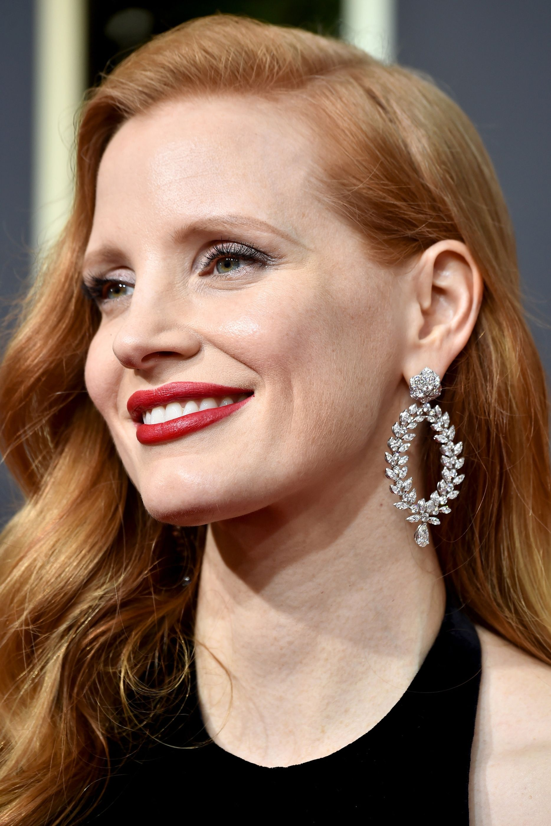 Jessica Chastain  wearing Piagot