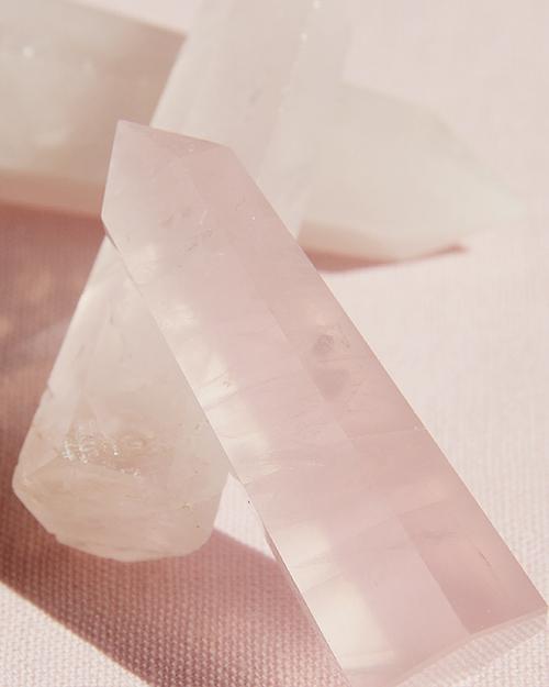 Rose Quartz Crystal Wand Ring Holder