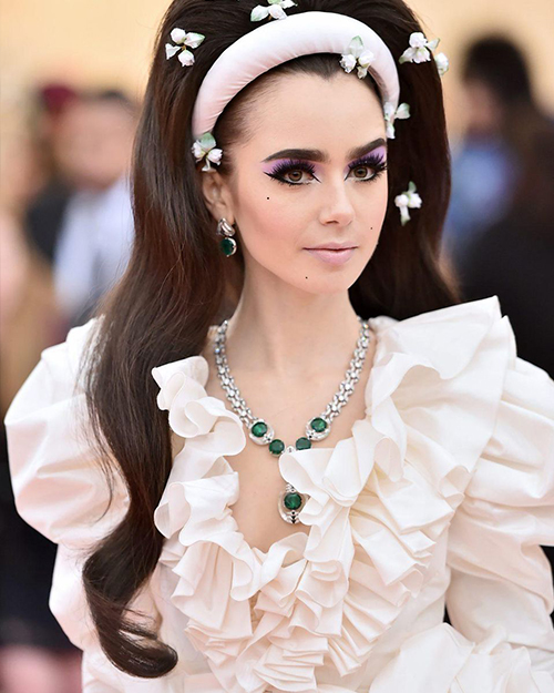 LILY COLLINS | wearing Cartier's Magnitude High Jewellery Collection