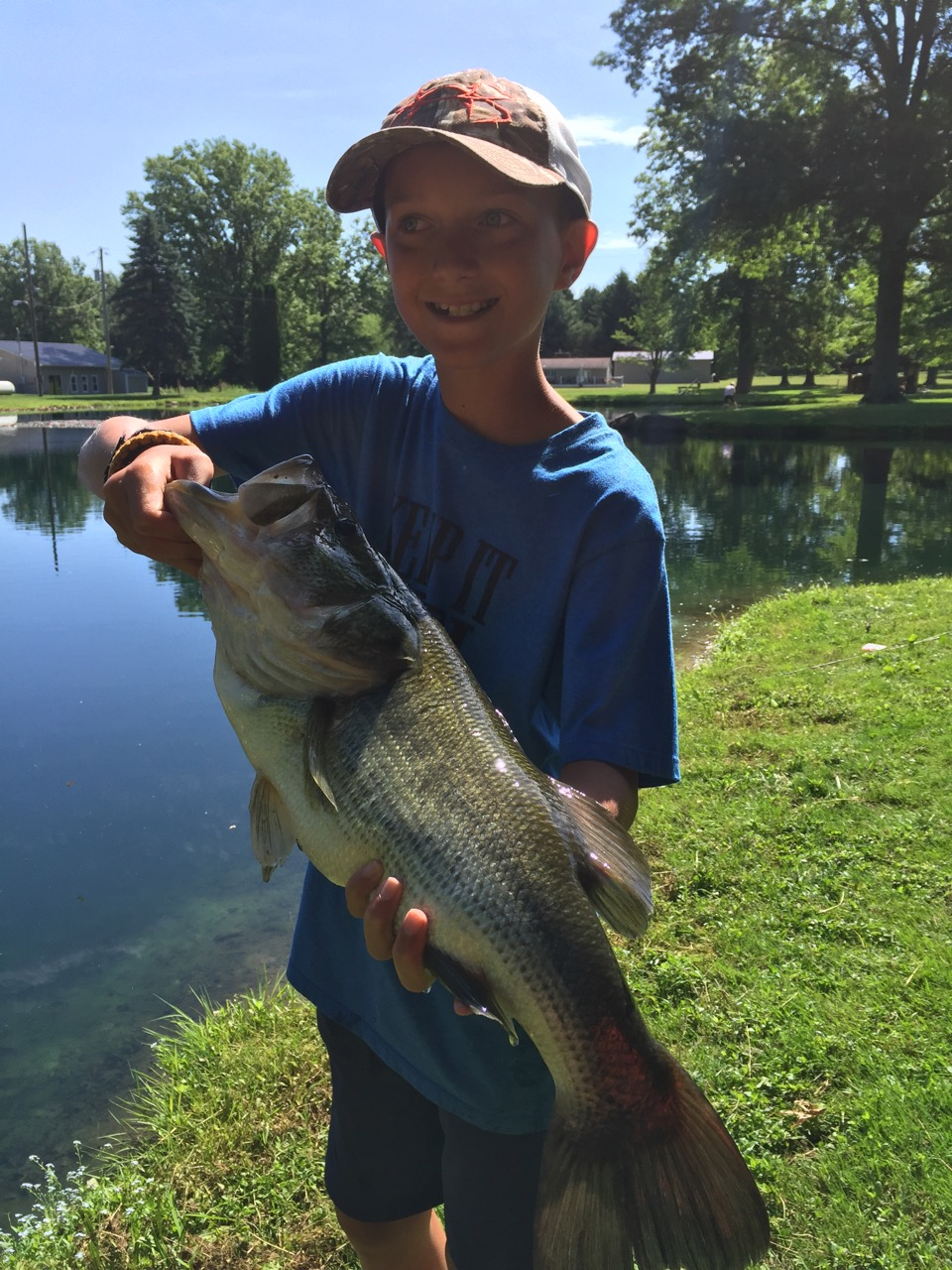 This guy who is just shy of 5 lbs was quite a catch for this camper!
