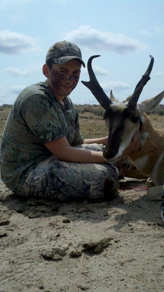 Clayton's antelope from his Wyoming trip where he was featured on a hunting show that aired on Sportsman's Channel.