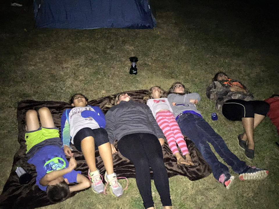The meteor shower watch party, and also where we slept that night!