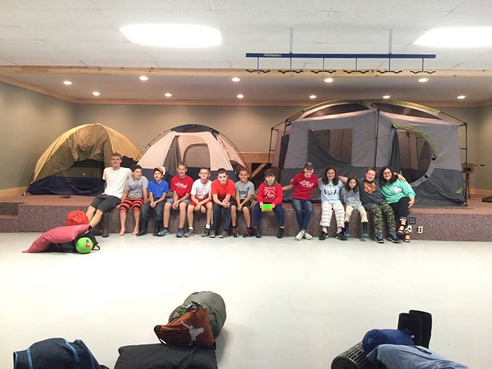 Sometimes the weather doesn't cooperate with us, so we have to have camp-ins! Still so much fun and much closer to the bathrooms!