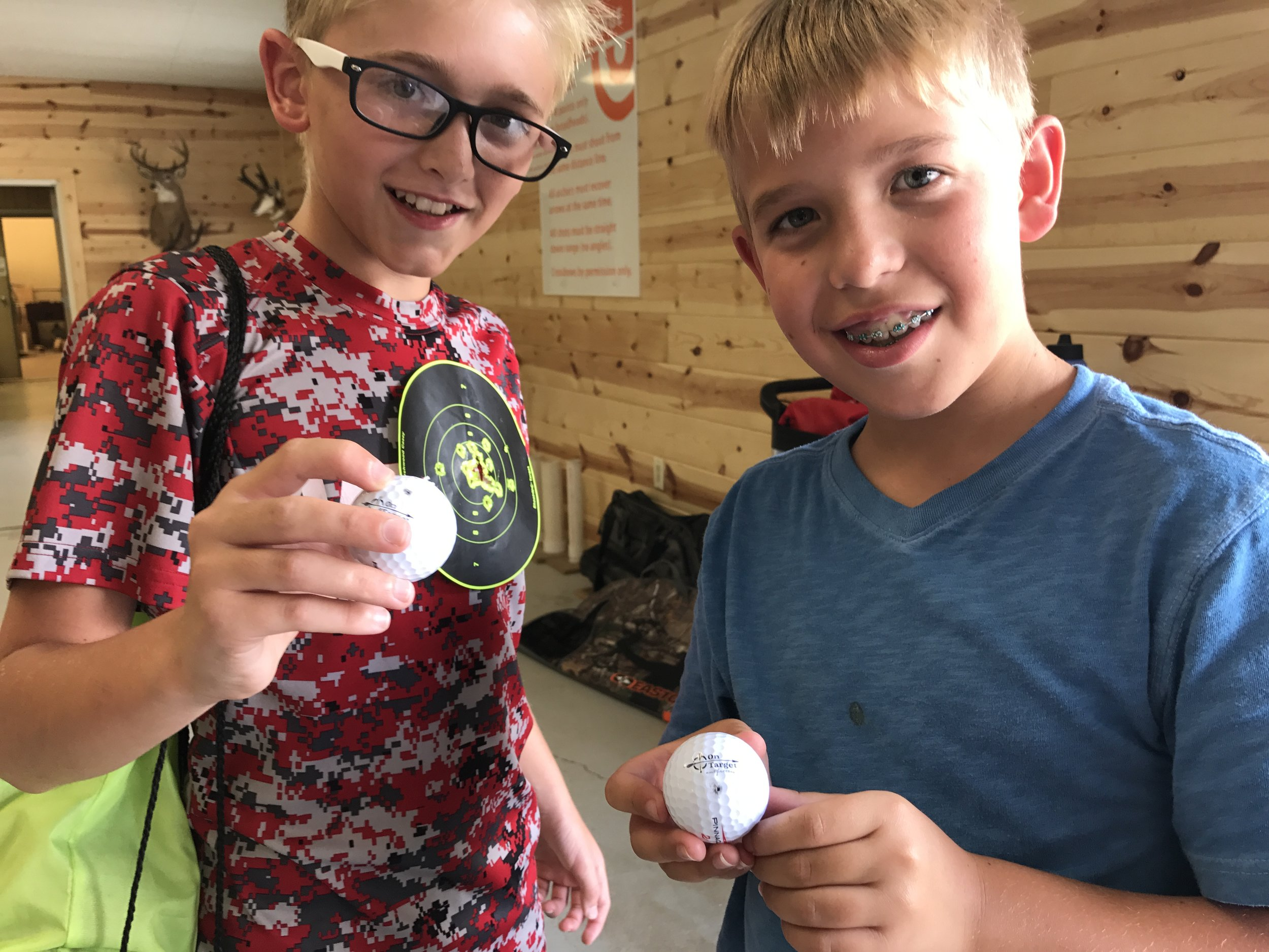 Successful golf ball shoot, and they get to take them home!