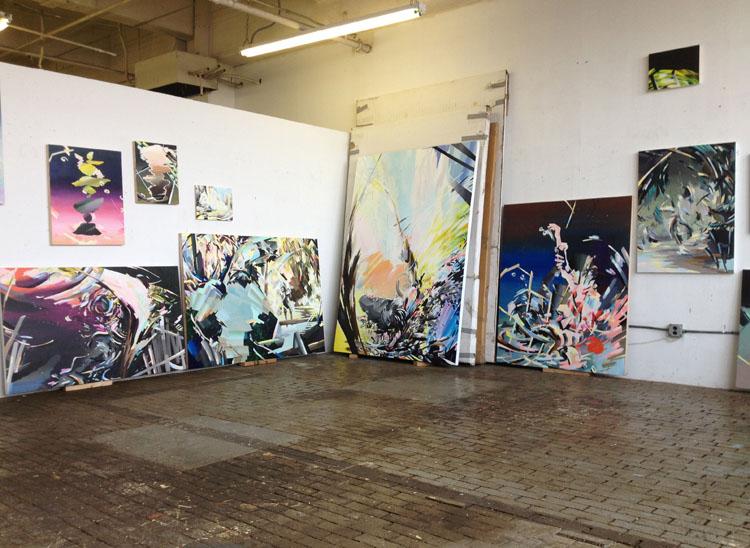 Karen Seapker's studio atBrooklyn Navy Yards