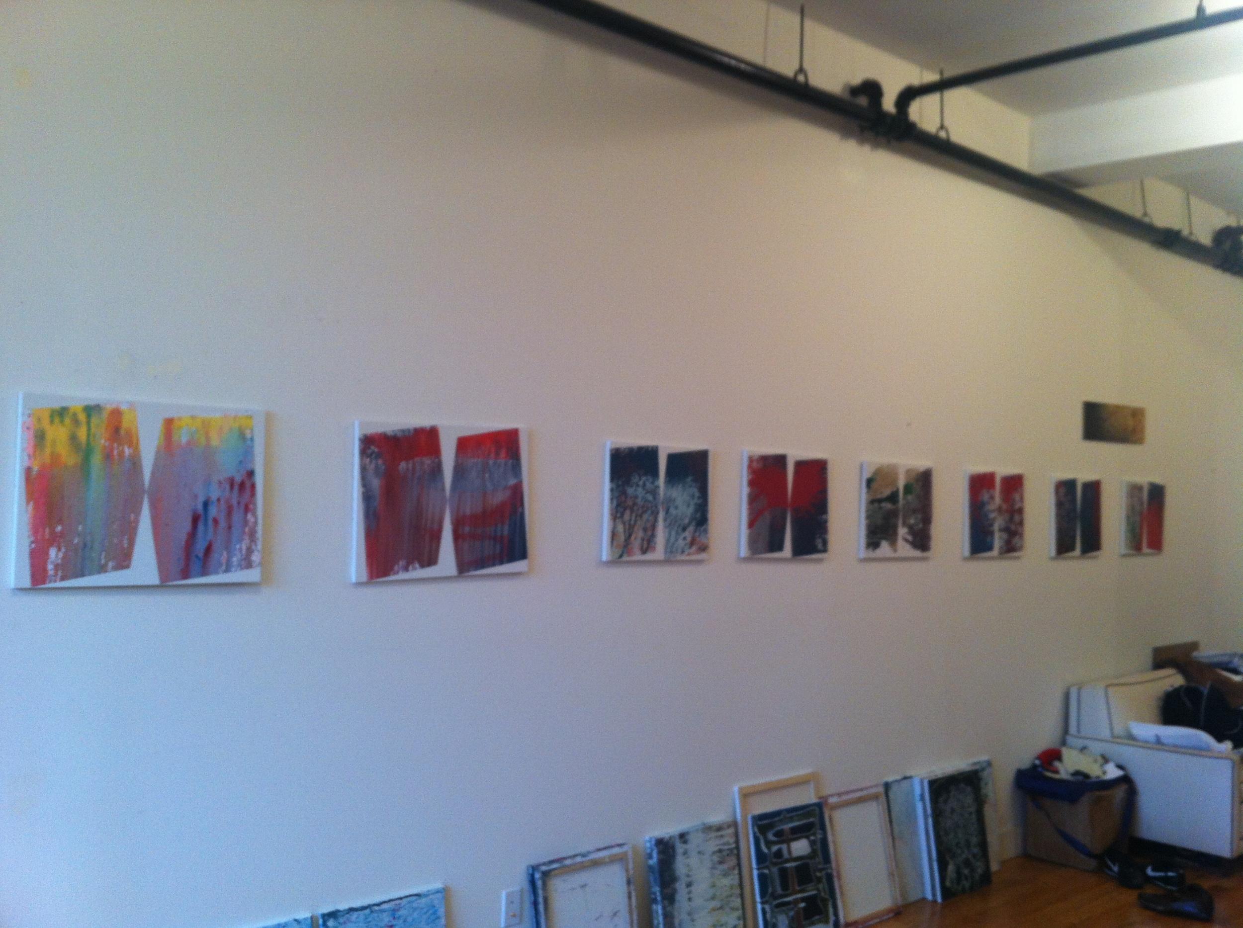 Brian Meola's studio in Bushwick, Brooklyn