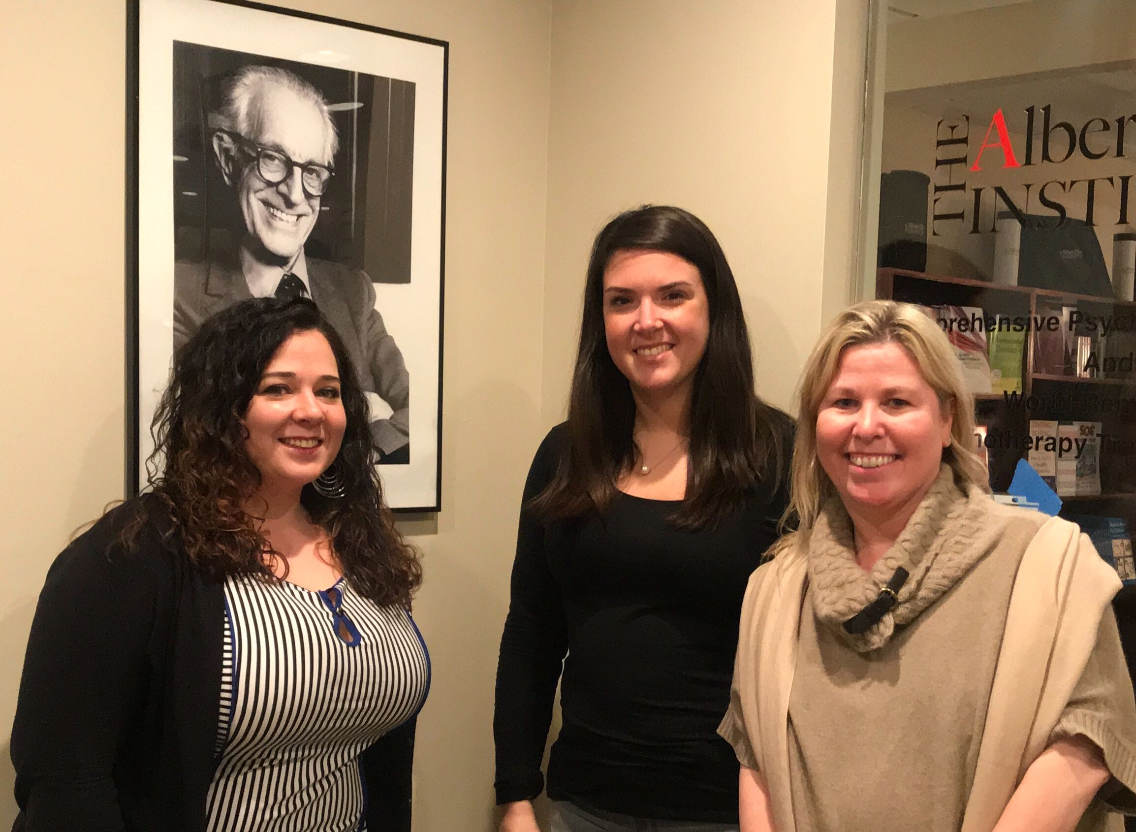 Anoosh and Jackie of MyTherapist New York with Dr. Kristine Doyle of the Albert Ellis Institute in New York
