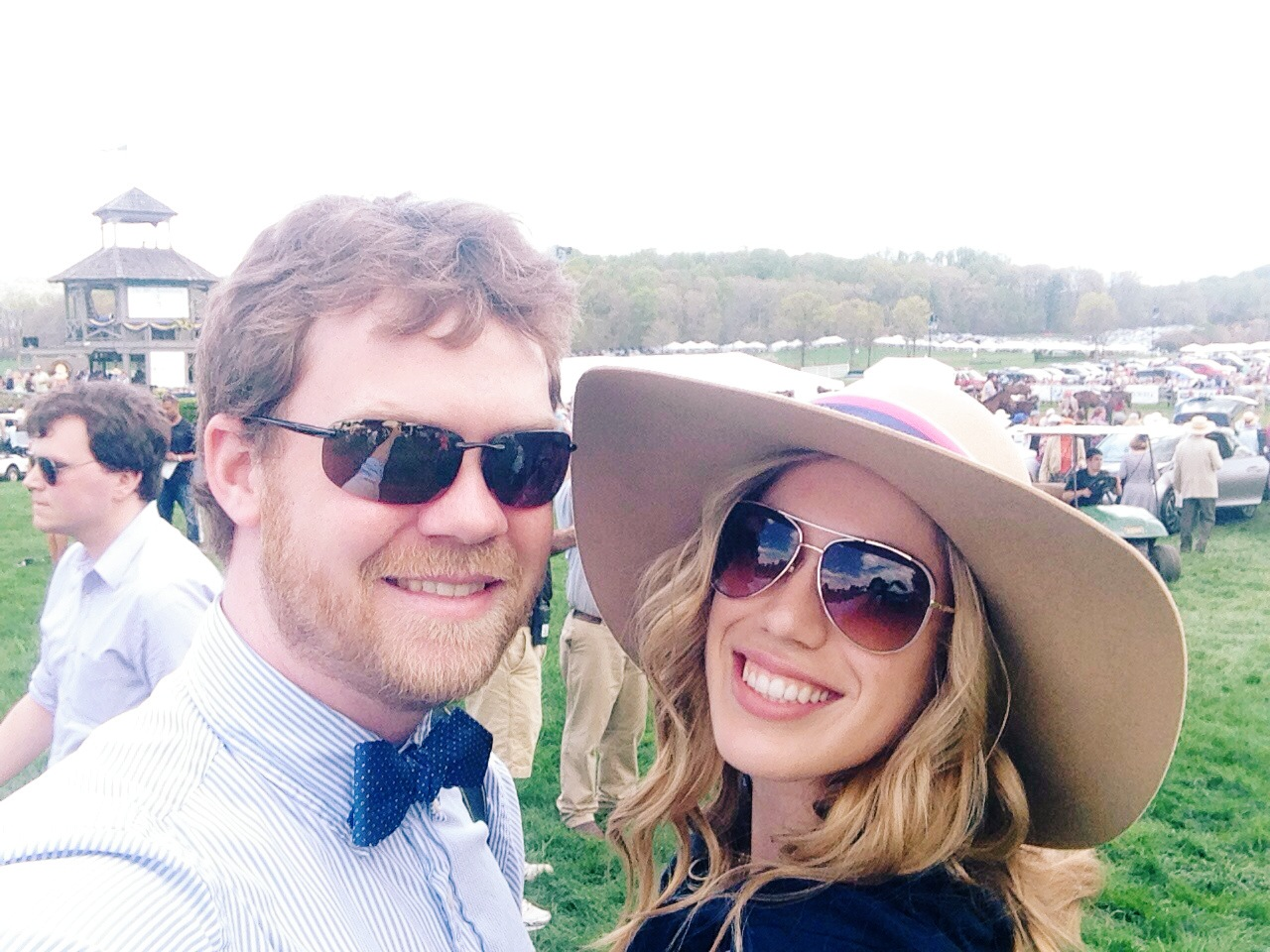 At the races with my dapper hubby.