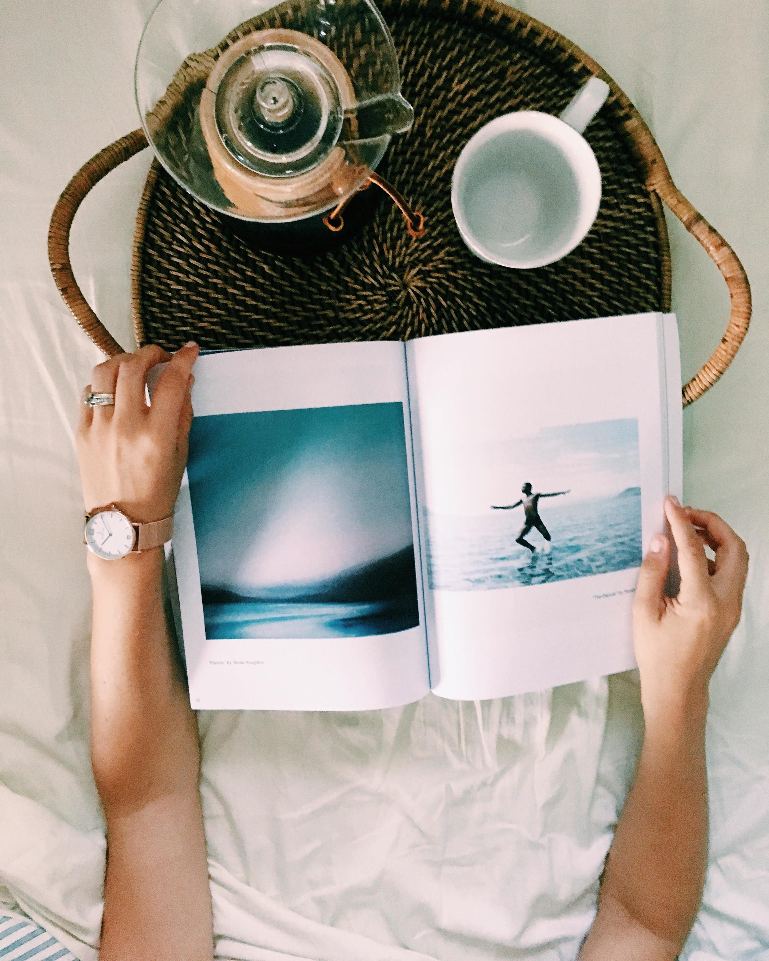 Reading Talulah Magazine // Wearing  Kapten & Son watch