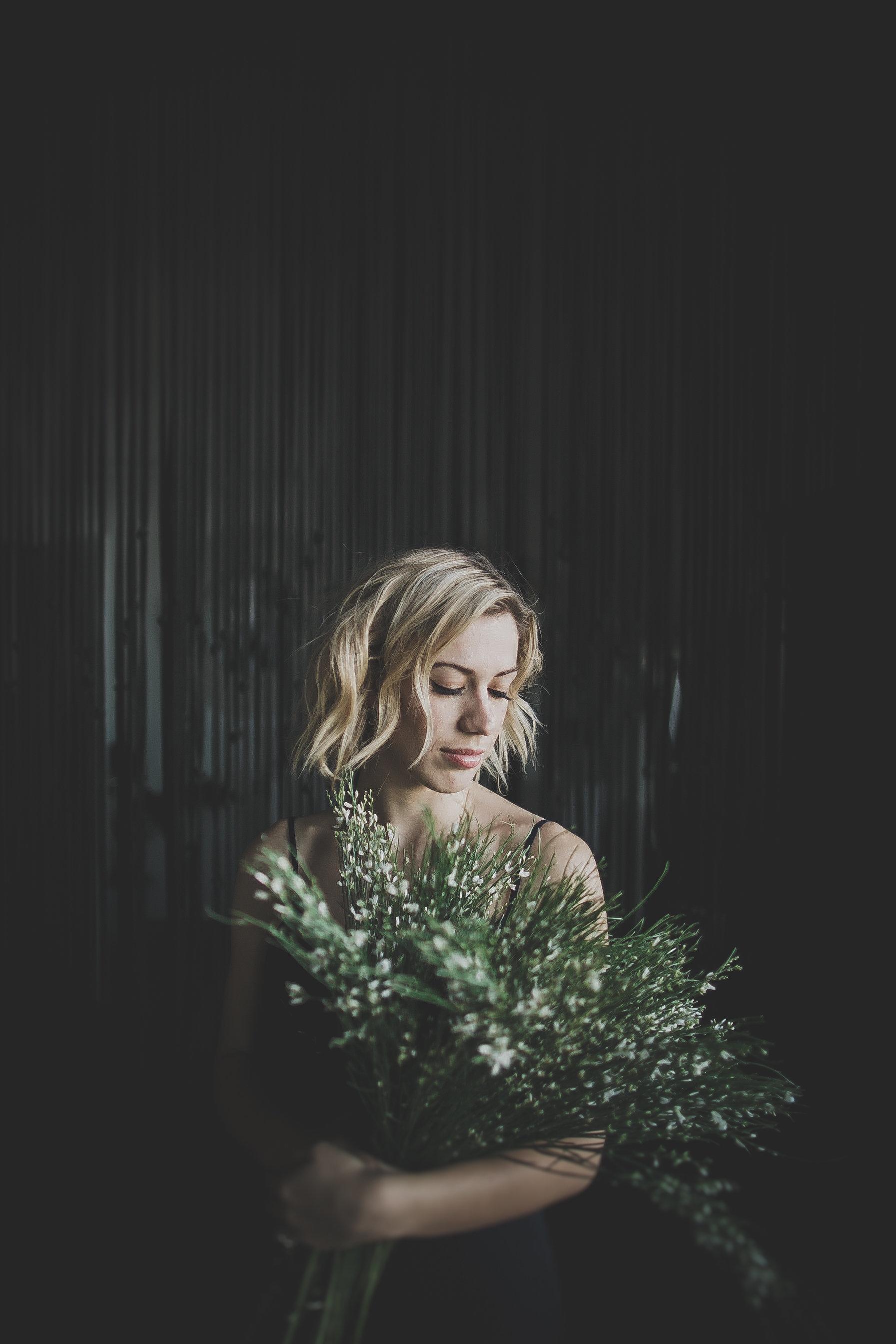 Photo by  Leah Beilhart //  Flowers via Sweet Root Village