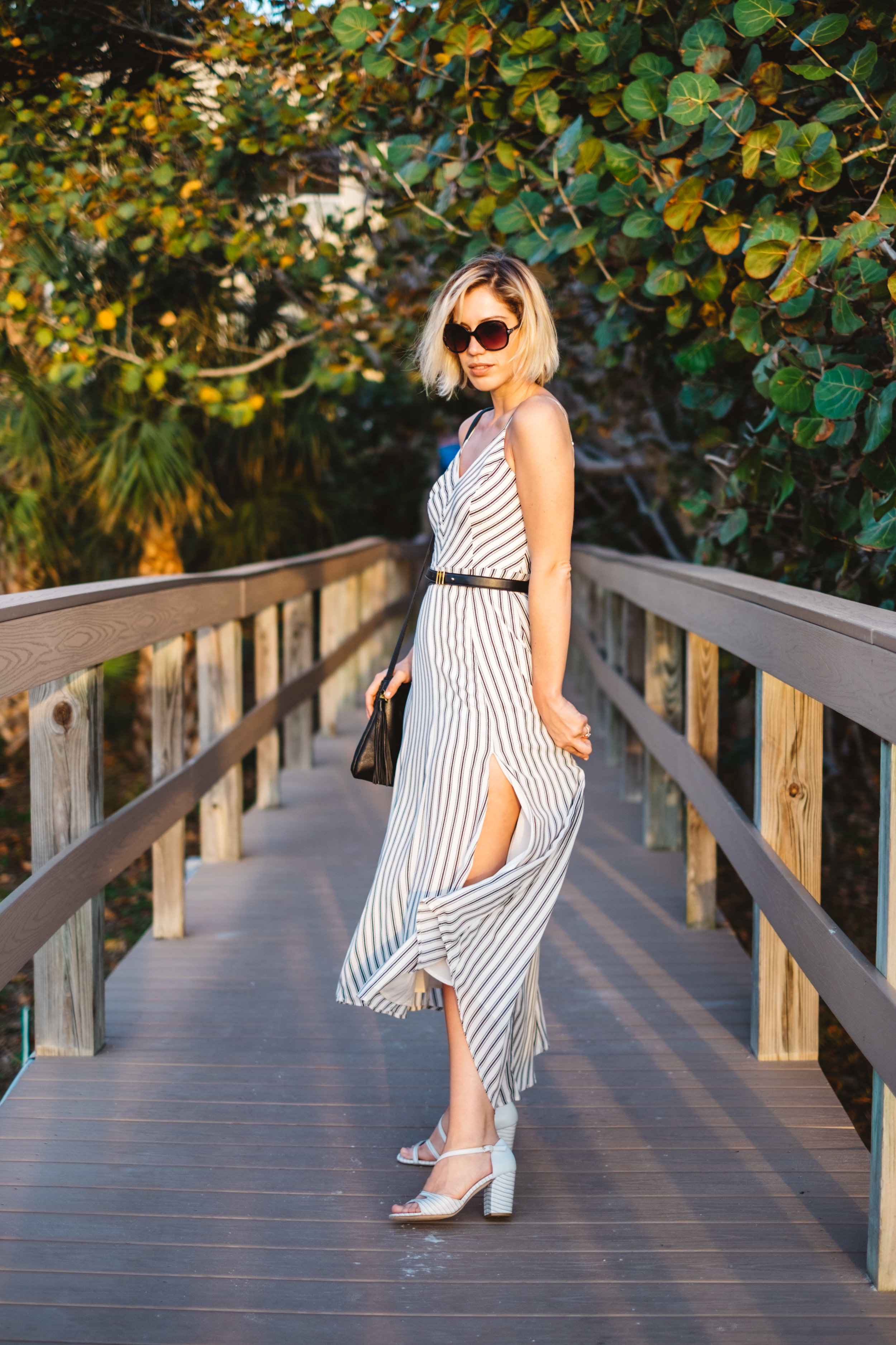 See the full blogpost with this striped maxi dress
