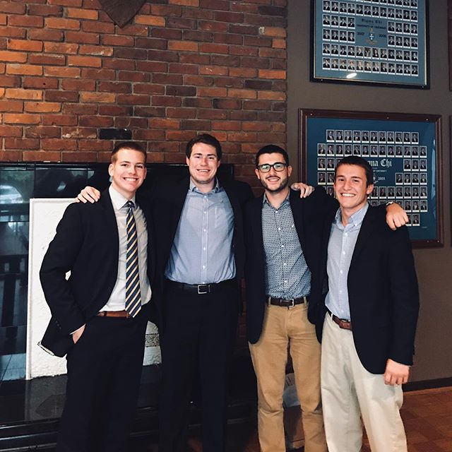Congratulations to our 2018/2019 executive board! Tyler Creel (President), Kirby Slater (Vice President), Jack Dennehy (Annotator), Joey Schroeder (Treasurer).